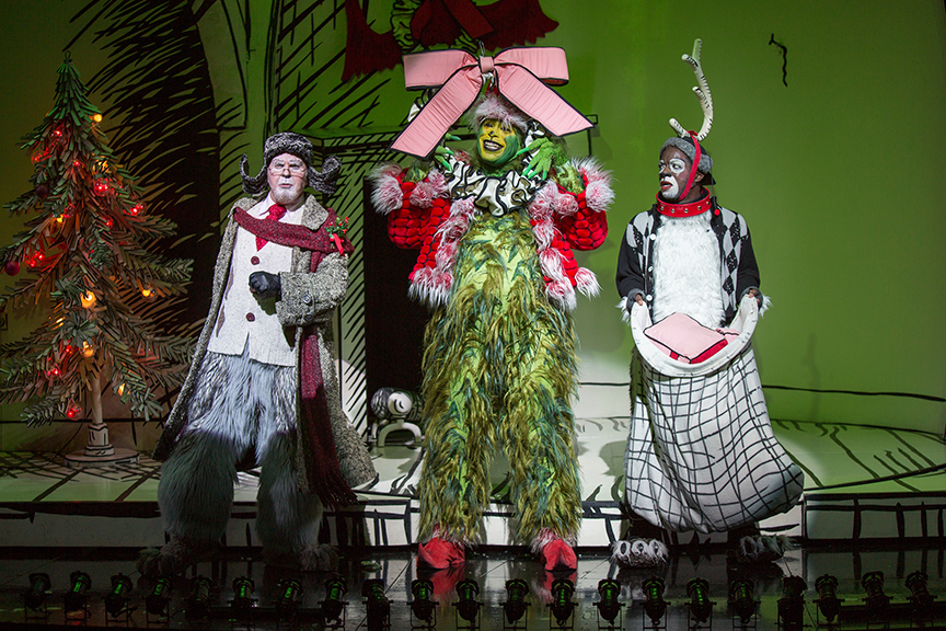 from left steve gunderson as old max j bernard calloway as the grinch and tyrone davis jr as young max in dr seuss how the grinch stole christmas - How Old Is Christmas
