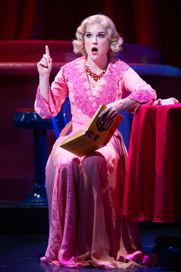 Veronica J. Kuehn as Miss Adelaide in Guys and Dolls, with music and lyrics by Frank Loesser, book by Abe Burrows and Jo Swerling, directed and choreographed by Josh Rhodes, runs July 2 - August 13, 2017 at The Old Globe. Photo by Jim Cox.