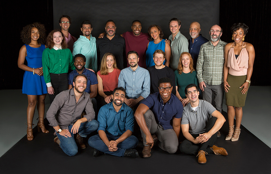 The cast of Hamlet, by William Shakespeare, directed by Barry Edelstein, running August 6 - September 10, 2017. Photo by Jim Cox.