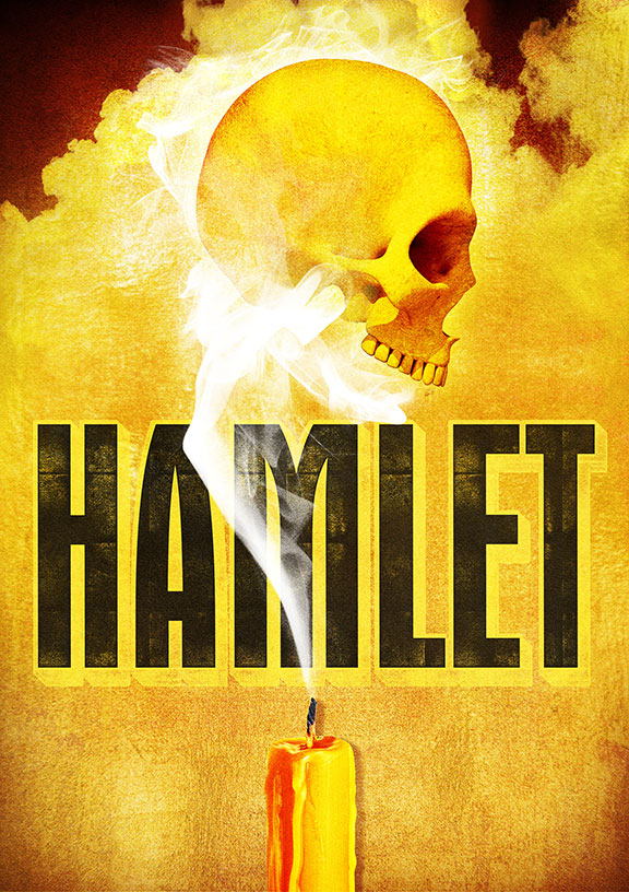 William Shakespeare's Hamlet, directed by The Old Globe's Erna Finci Viterbi Artistic Director Barry Edelstein, for the theatre's 2017 Summer Shakespeare Festival, August 6 - September 10, 2017. Artwork courtesy of The Old Globe.