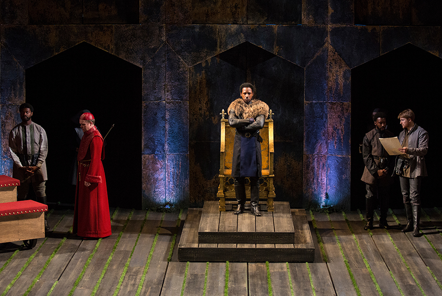 The cast of King Richard II, by William Shakespeare, directed by Erica Schmidt, running June 11 - July 15, 2017. Photo by Jim Cox.