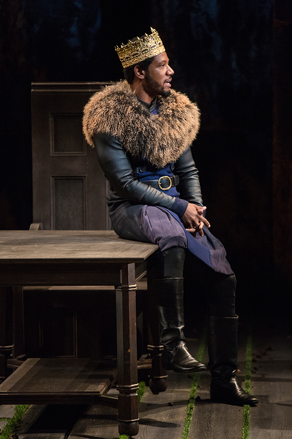 Tory Kittles as Henry Bolingbroke in King Richard II, by William Shakespeare, directed by Erica Schmidt, running June 11 - July 15, 2017. Photo by Jim Cox.