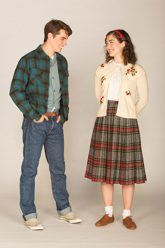Kyle Selig appears as Homer Hickam and Eliza Palasz as Dorothy in the West Coast premiere of October Sky, with book by Brian Hill and Aaron Thielen, music and lyrics by Michael Mahler, directed and choreographed by Rachel Rockwell, inspired by the Universal Pictures film and Rocket Boys by Homer H. Hickam, Jr., running Sept. 10 - Oct. 23, 2016 at The Old Globe. Photo by Jim Cox.