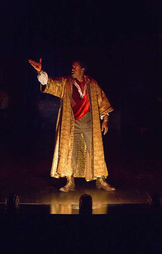 Albert Jones as Ira Aldridge in Lolita Chakrabarti's Red Velvet, directed by Stafford Arima, running March 25 – April 30, 2017 at The Old Globe. Photo by Jim Cox.