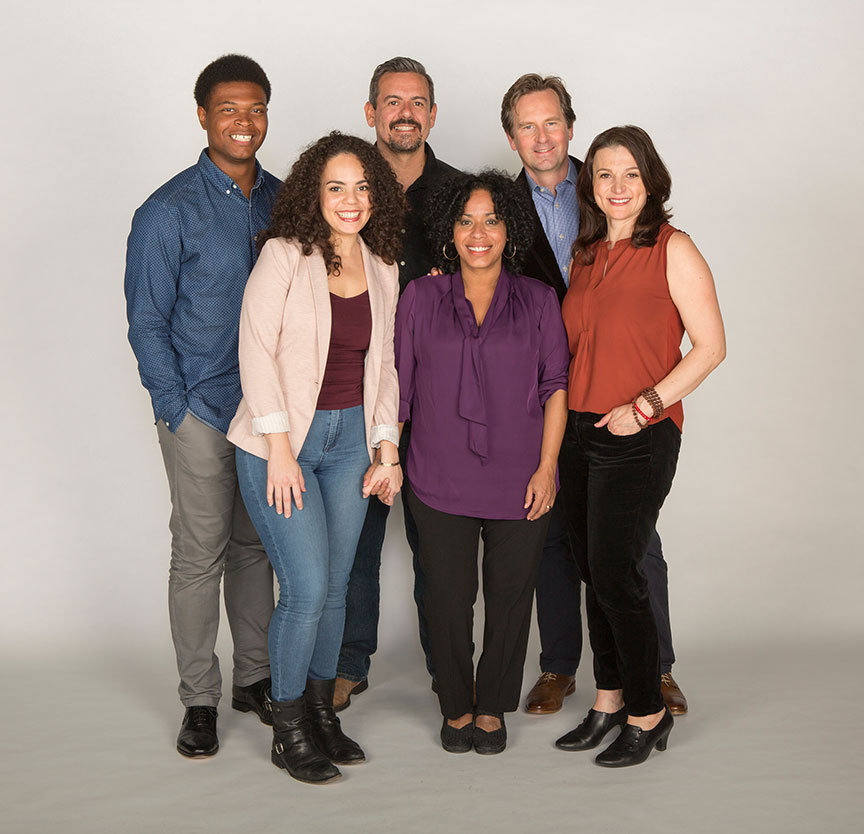 The cast of the world premiere of The Blameless, by Nick Gandiello, directed by Gaye Taylor Upchurch, running February 23 - March 26, 2017 at The Old Globe. Photo by Jim Cox.