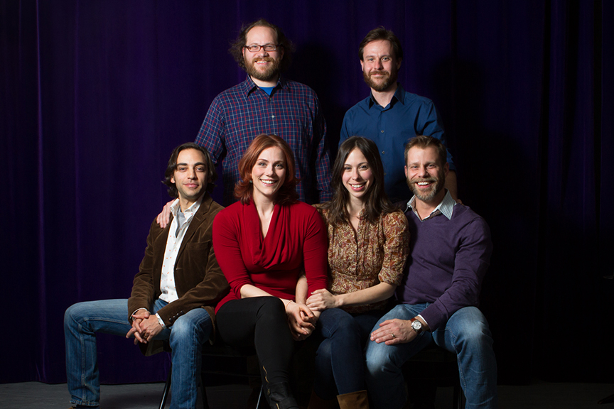 The team from Fiasco Theater. The world premiere of Molière's The Imaginary Invalid, adapted by Fiasco Theater, runs May 27 – July 2, 2017 at The Old Globe. Photo by Buatti-Ramos Photography.