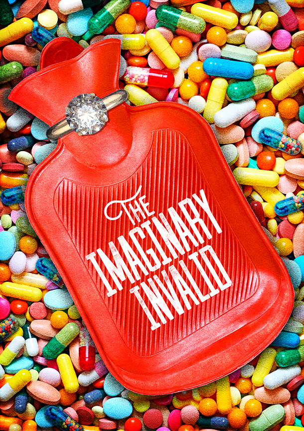 The world premiere of Molière's The Imaginary Invalid, adapted by Fiasco Theater, runs May 27 – July 2, 2017 at The Old Globe. Artwork courtesy of The Old Globe.