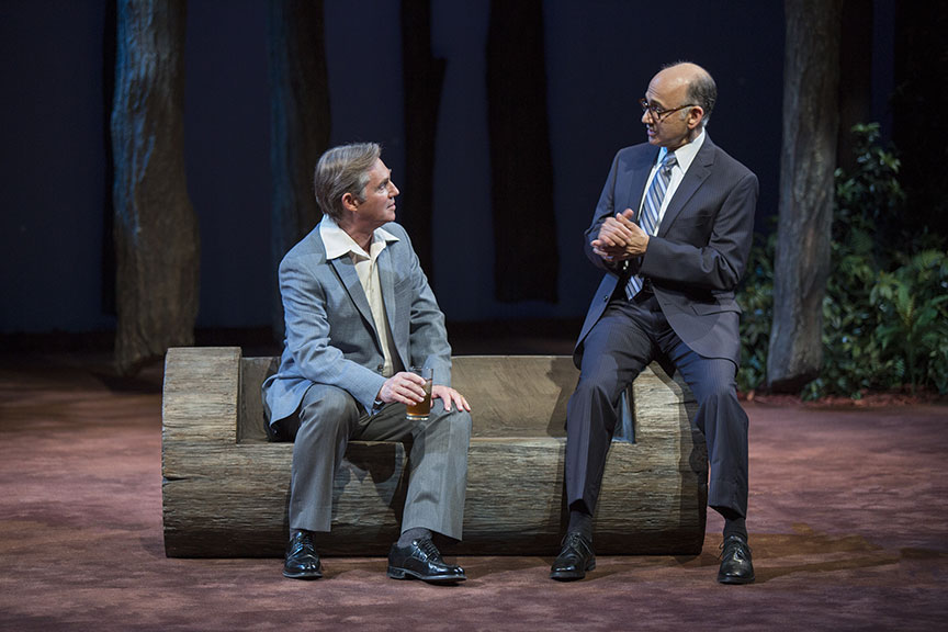 Richard Thomas as Jimmy Carter and Ned Eisenberg as Menachem Begin