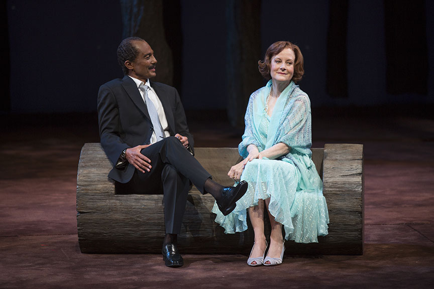 Khaled Nabawy as Anwar Sadat and Hallie Foote as Rosalynn Carter