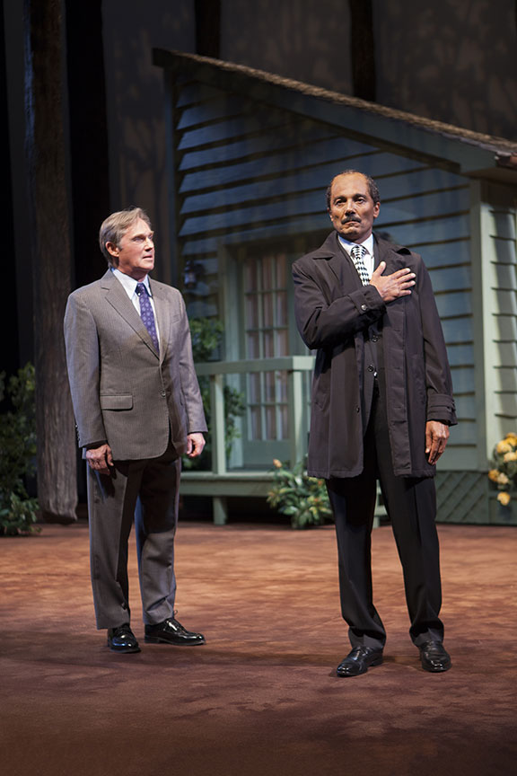 Richard Thomas as Jimmy Carter and Khaled Nabawy as Anwar Sadat