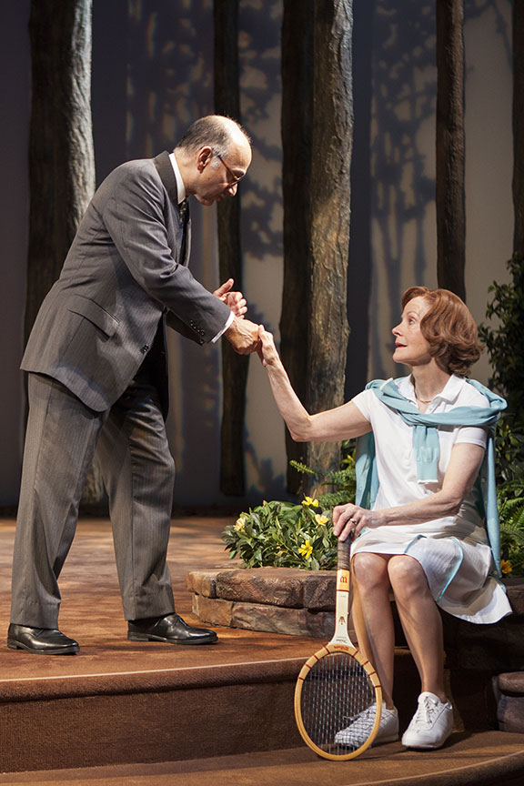 Ned Eisenberg as Menachem Begin and Hallie Foote as Rosalynn Carter