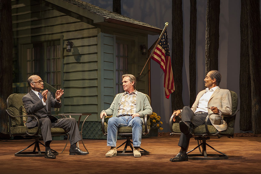 Ned Eisenberg as Menachem Begin, Richard Thomas as Jimmy Carter, and Khaled Nabawy as Anwar Sadat