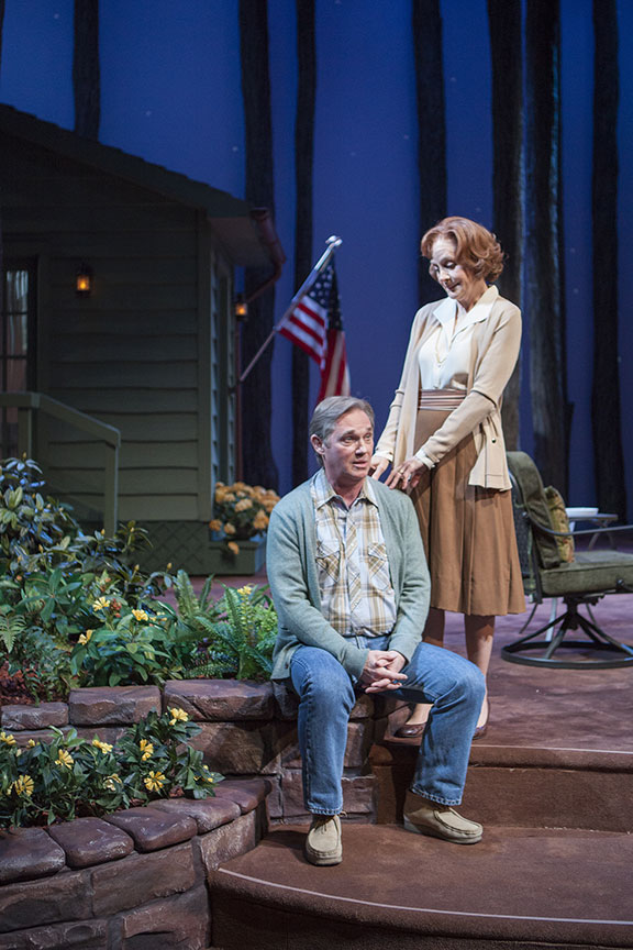 Richard Thomas as Jimmy Carter and Hallie Foote as Rosalynn Carter