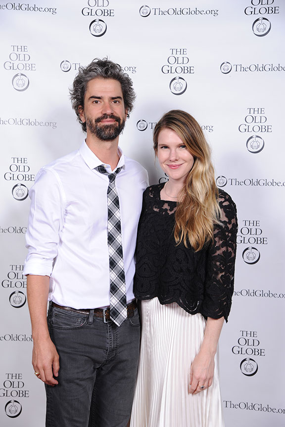 Hamish Linklater and Lily Rabe joined a constellation of luminaries to perform in Shakespeare in America at The Old Globe on June 4, kicking off the visit to San Diego of Shakespeare's First Folio. Photo by Douglas Gates.