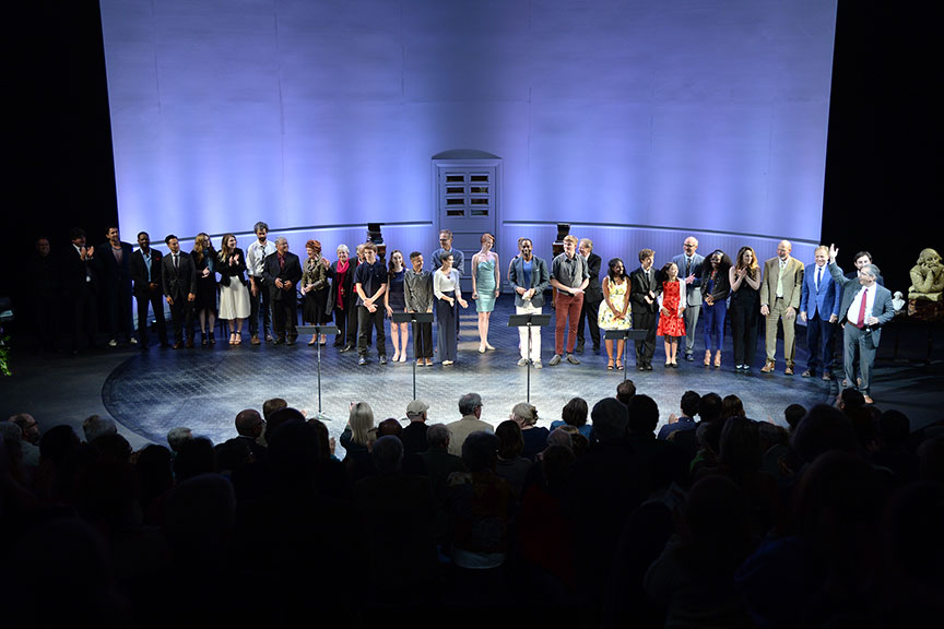 A constellation of luminaries performed in Shakespeare in America at The Old Globe on June 4, kicking off the visit to San Diego of Shakespeare's First Folio. Photo by Douglas Gates.