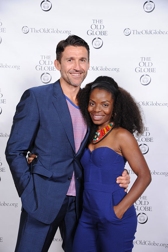 Jonathan Cake and Marsha Stephanie Blake, who will star in the Globe's production of Macbeth this summer, joined a constellation of luminaries to perform in Shakespeare in America at The Old Globe on June 4, kicking off the visit to San Diego of Shakespeare's First Folio. Photo by Douglas Gates.