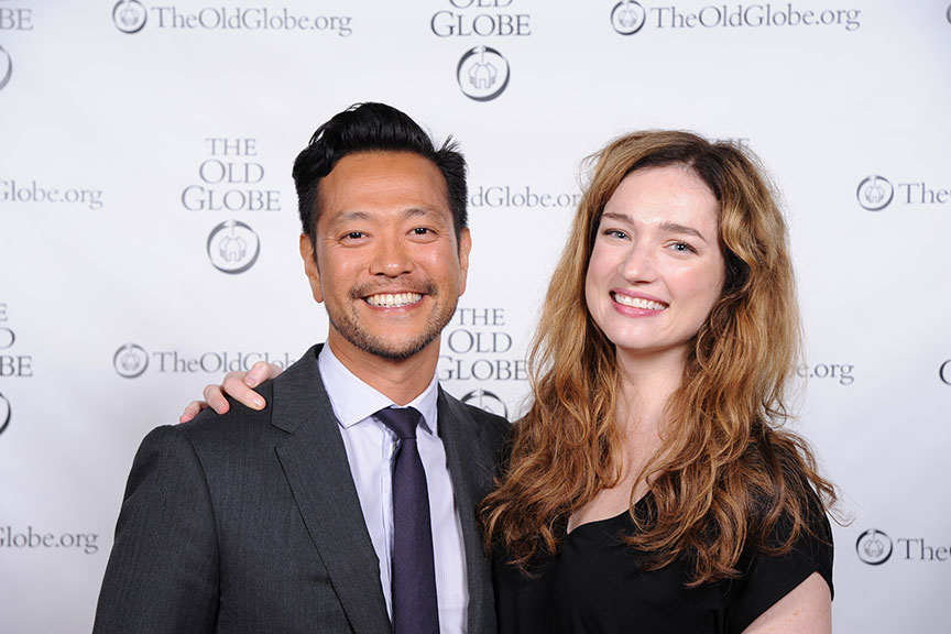 Louis Changchien and Kristen Connolly joined a constellation of luminaries to perform in Shakespeare in America at The Old Globe on June 4, kicking off the visit to San Diego of Shakespeare's First Folio. Photo by Douglas Gates.