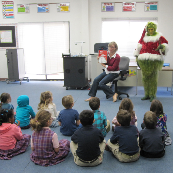 Appearance by Grinch at Child's School