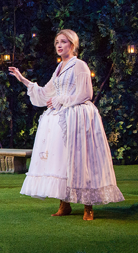 Kristen Connolly as Princess of France in William Shakespeare's Love's Labor's Lost, directed by Kathleen Marshall, running August 14 - September 18, 2016 at The Old Globe. Photo by Jim Cox.