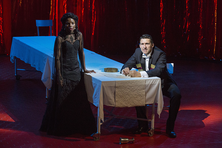Marsha Stephanie Blake stars as Lady Macbeth and Jonathan Cake as the title role of William Shakespeare's Macbeth