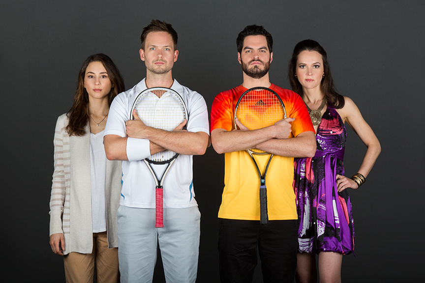 Troian Bellisario stars as Mallory, Patrick J. Adams as Tim, Alex Mickiewicz as Sergei, and Natalia Payne as Galina
