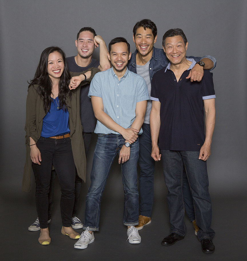 Tina Chilip, Raymond Lee, Jon Norman Scheider, Tim Chiou, and James Saito