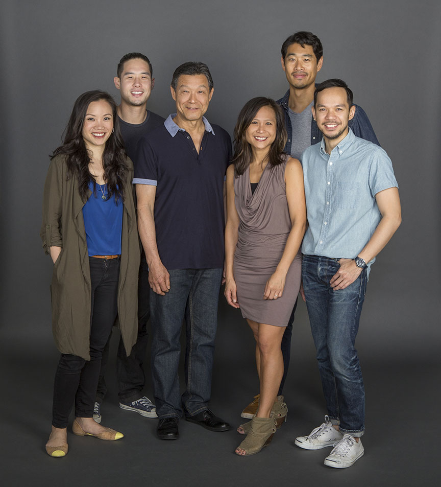 Director May Adrales (center) with the cast of tokyo fish story