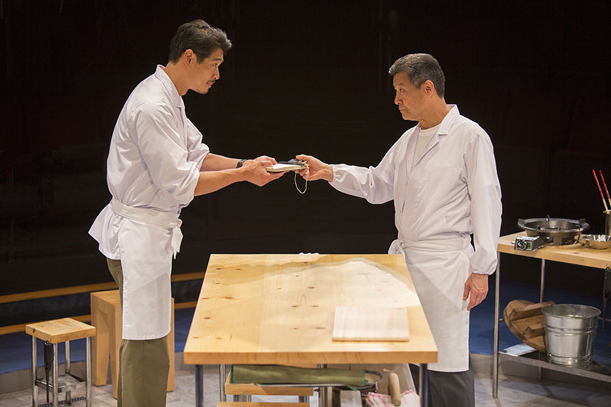 (from left) Tim Chiou appears as Takashi and James Saito as Koji