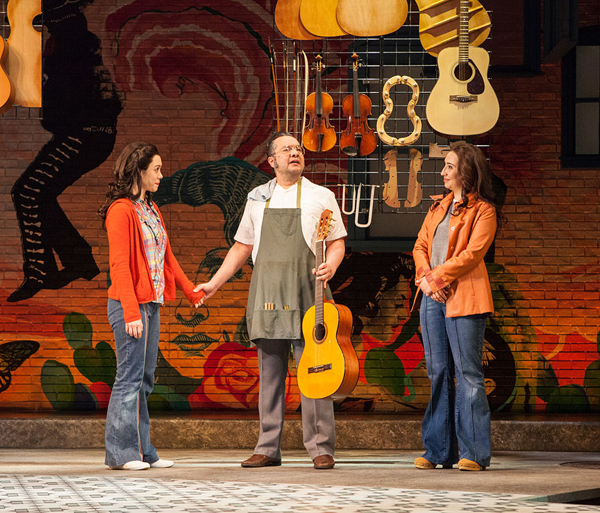 Jennifer Paredes, Rodney Lizcano, and Heather Velazquez in American Mariachi, written by José Cruz González, directed by James Vásquez, in association with Denver Center for the Performing Arts Theatre Company, running March 23 – April 29, 2018 at The Old Globe. Photo by Jim Cox.