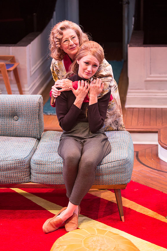 (from left) Mia Dillon as Mrs. Ethel Banks and Kerry Bishé as Corie Bratter in Barefoot in the Park, by Neil Simon, directed by Jessica Stone, running July 28 - August 26, 2018 at The Old Globe. Photo by Jim Cox.