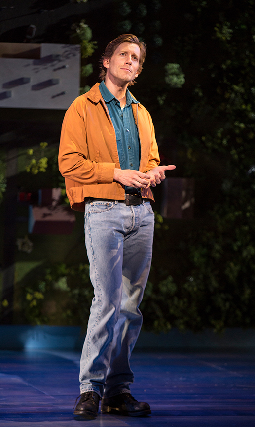 Andrew Samonsky as Benny in Benny & Joon, book by Kirsten Guenther, music by Nolan Gasser, lyrics by Mindi Dickstein, directed by Jack Cummings III, running September 7 – October 22, 2017 at The Old Globe. Photo by Jim Cox.