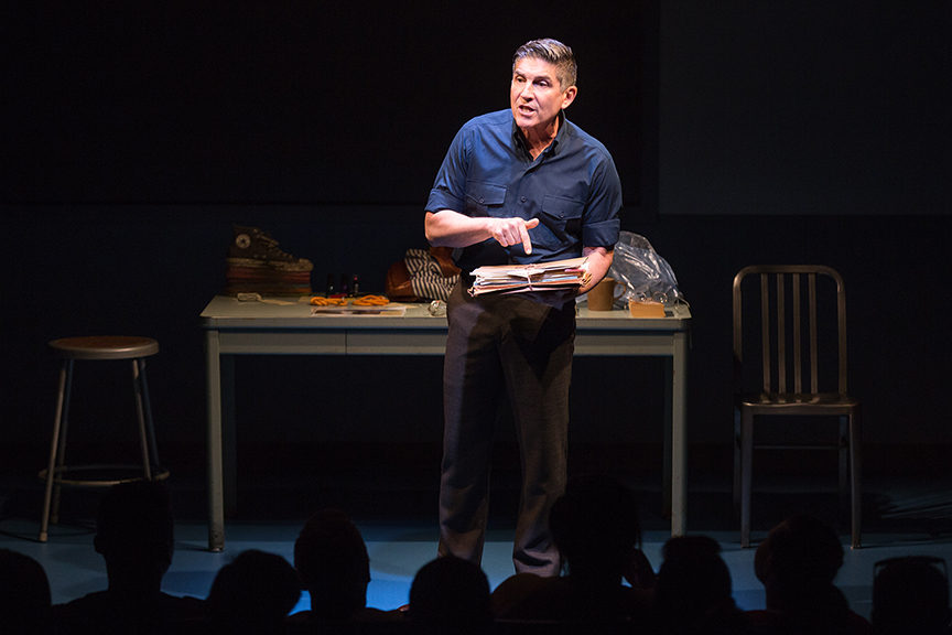 James Lecesne as Chuck in The Absolute Brightness of Leonard Pelkey. Photo by Matthew Murphy.