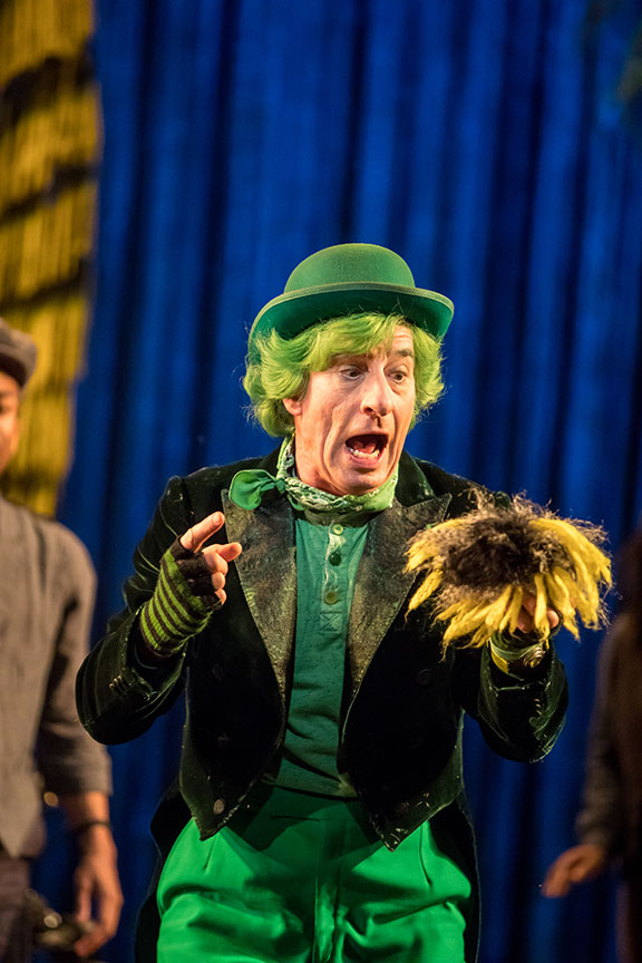 Steven Epp as The Once-ler in Dr. Seuss's The Lorax, running July 2 – August 12, 2018 at The Old Globe. Photo by Dan Norman.