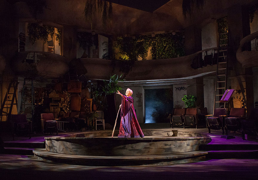 Kate Burton as Prospera in The Tempest, by William Shakespeare, runs June 17 – July 22, 2018 at The Old Globe. Photo by Jim Cox.
