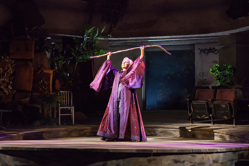 Kate Burton as Prospera in The Tempest, by William Shakespeare, runsJune 17 – July 22, 2018 at The Old Globe. Photo by Jim Cox.