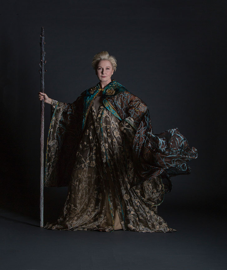 Kate Burton appears as Prospera in The Tempest, by William Shakespeare, running June 17 – July 22, 2018 at The Old Globe. Photo by Jim Cox.