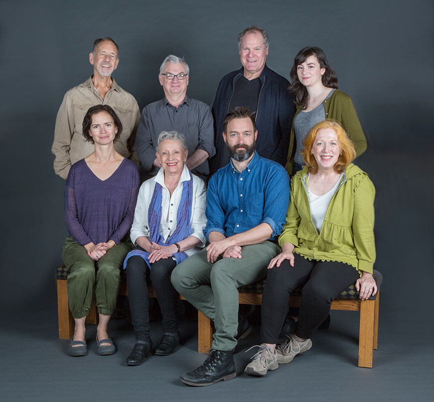 The cast of Uncle Vanya with director and translator Richard Nelson (back row, second from left), translated by Richard Pevear and Larissa Volokhonsky, runs February 10 – March 11, 2018 at The Old Globe. Photo by Jim Cox.