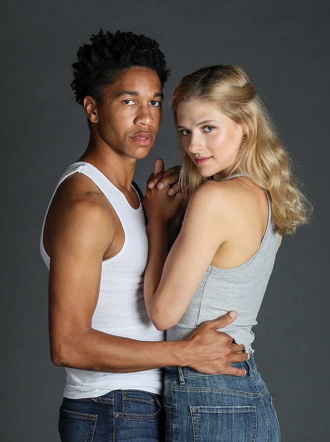 Aaron Clifton Moten appears as Romeo and Louisa Jacobson as Juliet. Romeo and Juliet, by William Shakespeare and directed by Barry Edelstein, will run August 11 – September 15, 2019 at The Old Globe. Photo by Jim Cox.