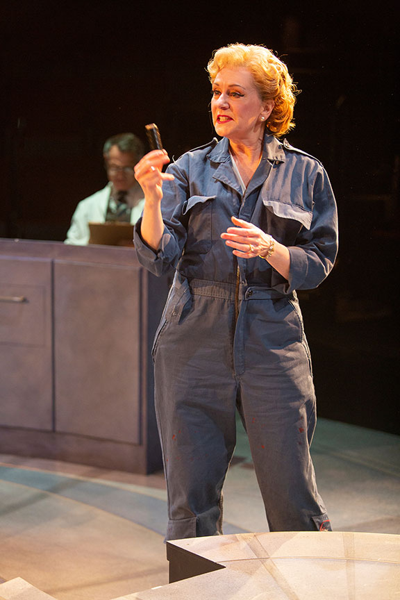 Mary Beth Fisher as Jackie Cochran in They Promised Her the Moon, running April 6 – May 12, 2019 at The Old Globe. Photo by Jim Cox.