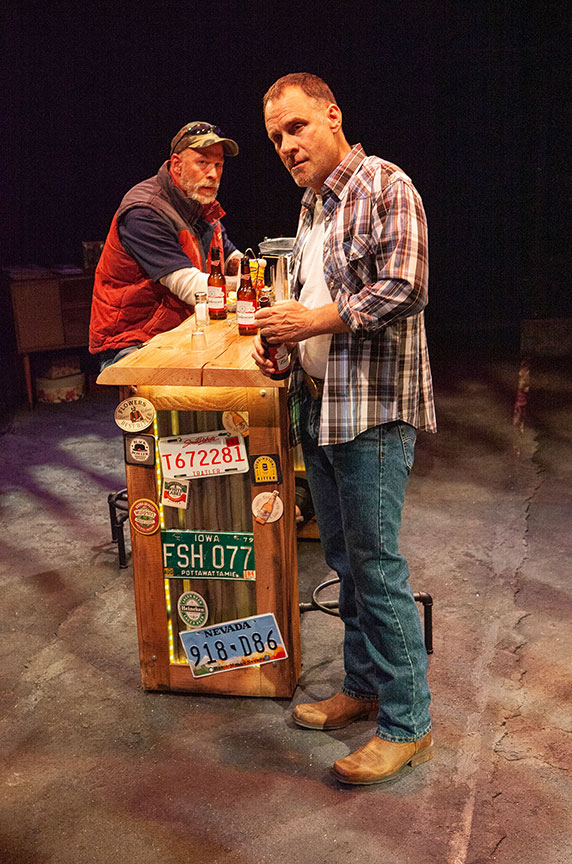 (from left) Mike Sears as Randy and Jonathan Walker as Don in What You Are, running May 30 – June 30, 2019 at The Old Globe. Photo by Jim Cox.