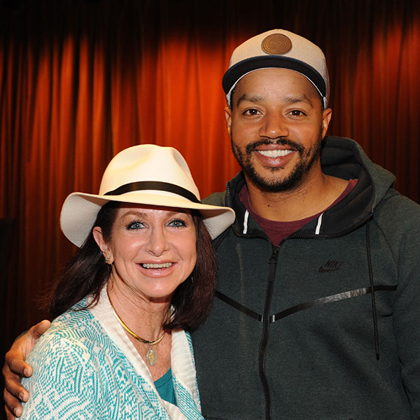 Cathy Golden with Donald Faison from Picasso at the Lapin Agile. Photo by Douglas Gates.