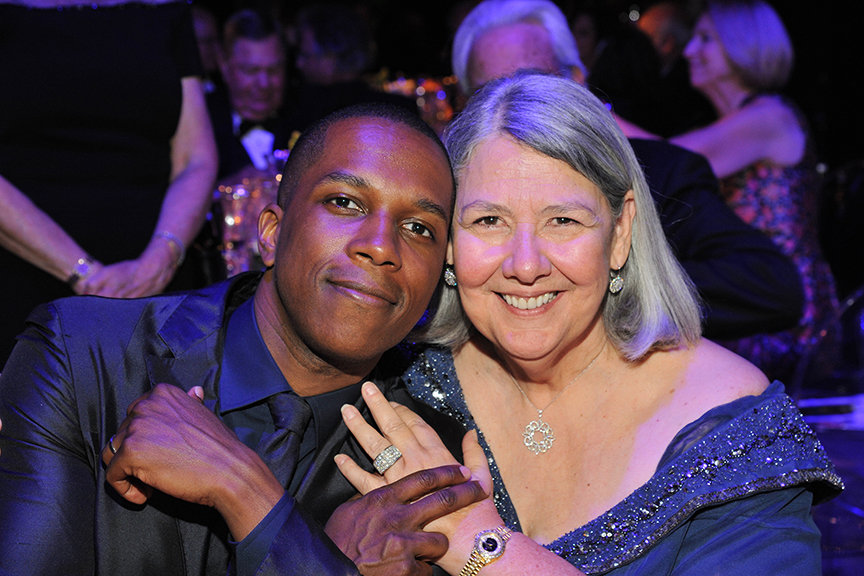 Darlene Marcos Shiley and Leslie Odom Jr. at the 2016 Globe Gala – A Night of Revels – on Saturday, September 24, 2016. Photo by Douglas Gates.