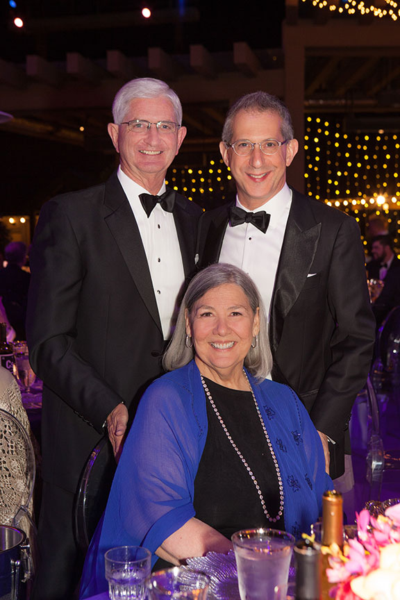 (from left) Sheriff Bill Gore, Darlene Shiley, Erna Finci Viterbi Artistic Director Barry Edelstein. Photo by Melissa Jacobs.