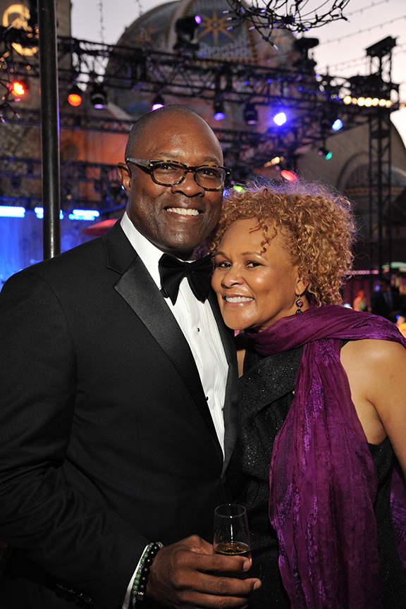 Board member Michael Taylor and Janice Brown at the 2016 Globe Gala – A Night of Revels – on Saturday, September 24, 2016. Photo by Douglas Gates.